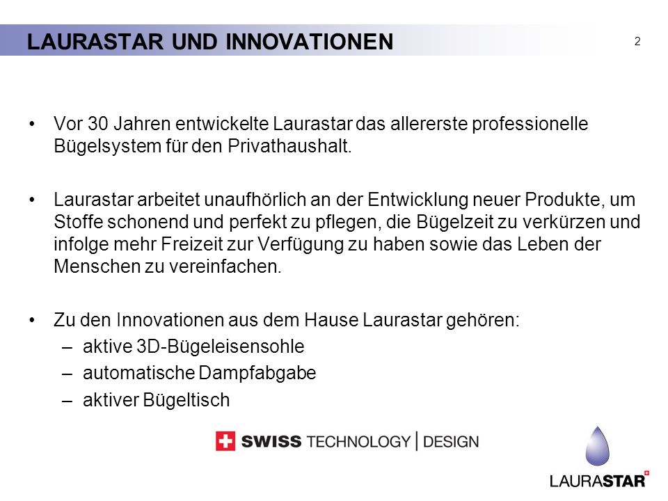 LAURASTAR UND INNOVATIONEN