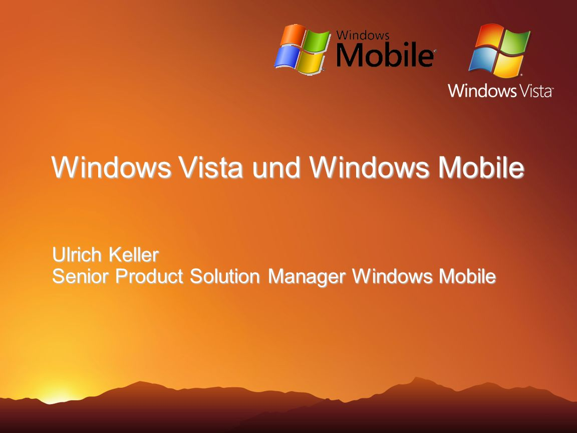 Windows Vista und Windows Mobile