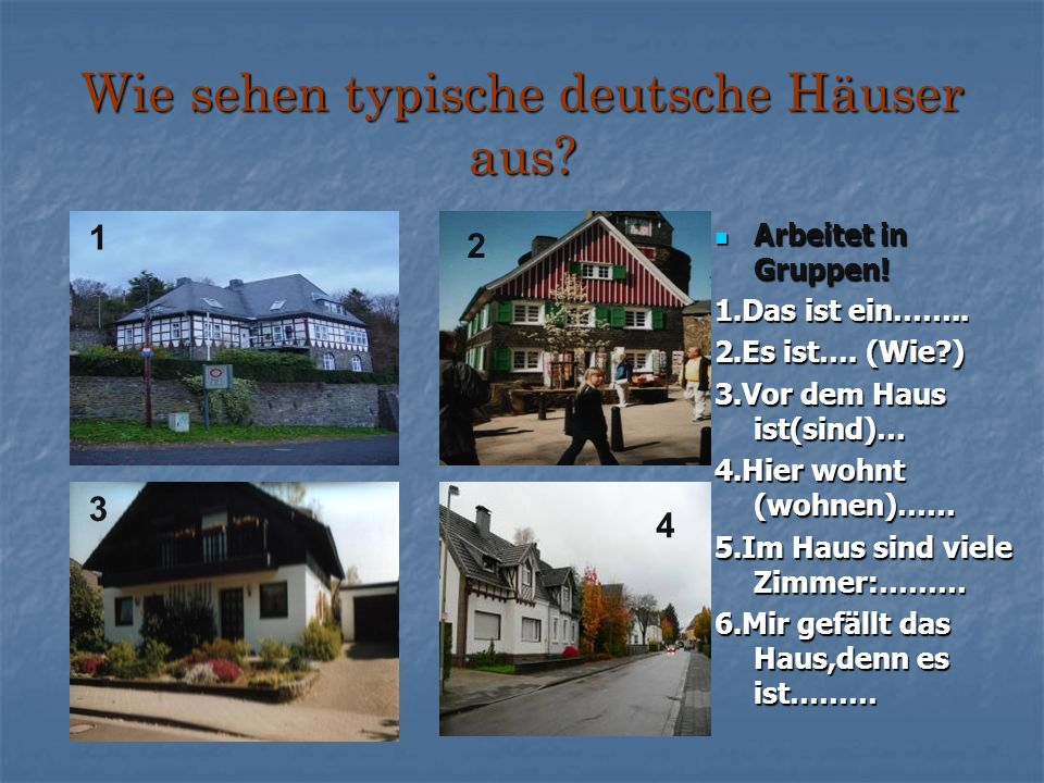 Wie sehen typische deutsche Häuser aus