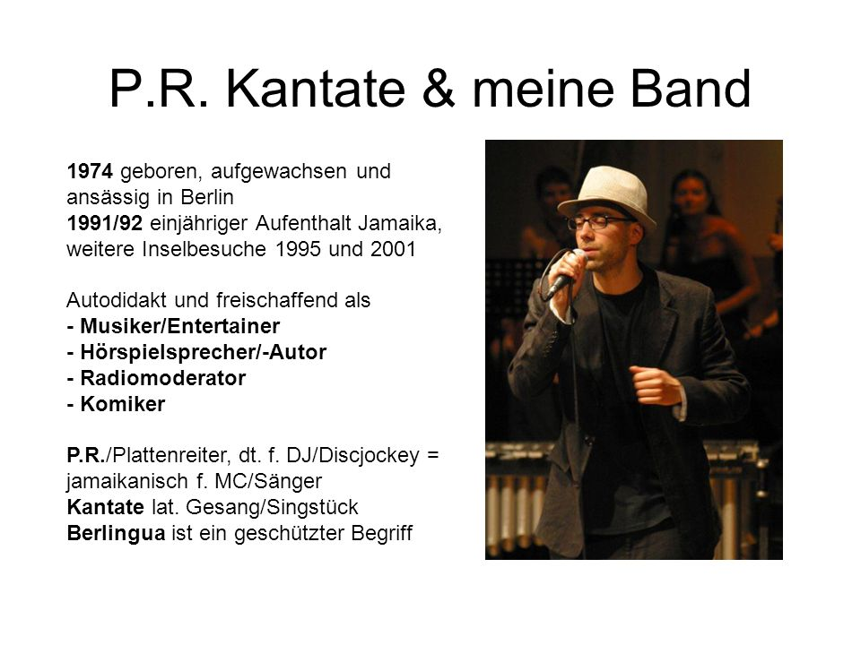 P.R. Kantate & meine Band