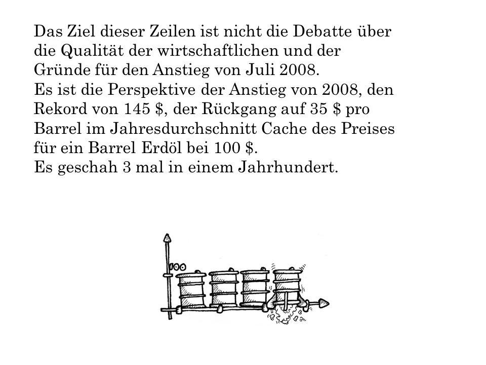 Das Ziel dieser Zeilen ist nicht die Debatte über die Qualität der wirtschaftlichen und der Gründe für den Anstieg von Juli 2008.