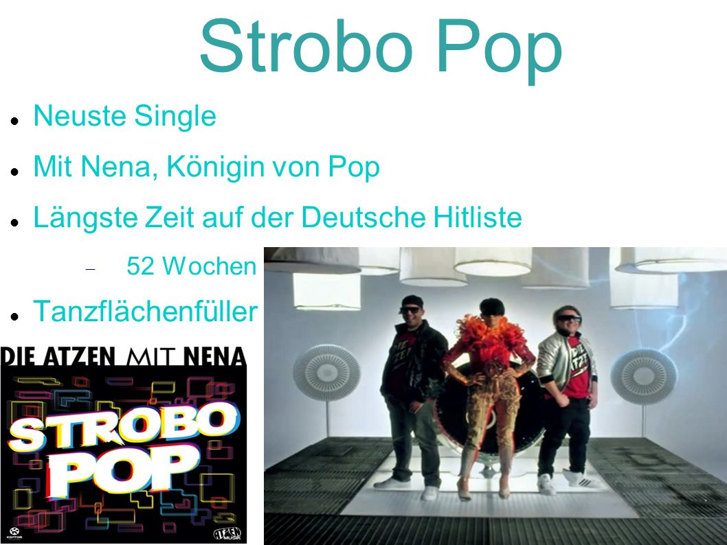 Strobo Pop Neuste Single Mit Nena, Königin von Pop