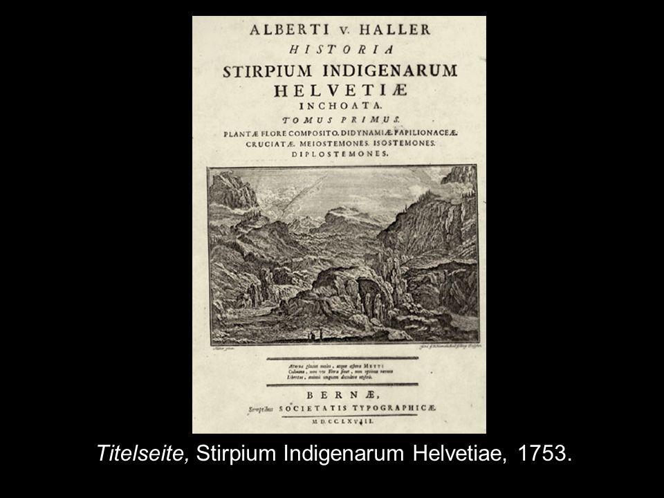 Titelseite, Stirpium Indigenarum Helvetiae, 1753.
