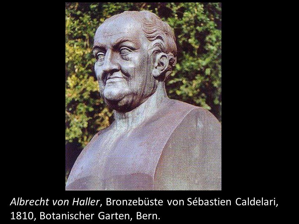 Albrecht von Haller, Bronzebüste von Sébastien Caldelari,
