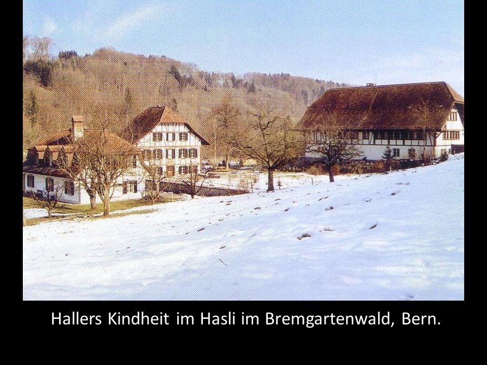 Hallers Kindheit im Hasli im Bremgartenwald, Bern.