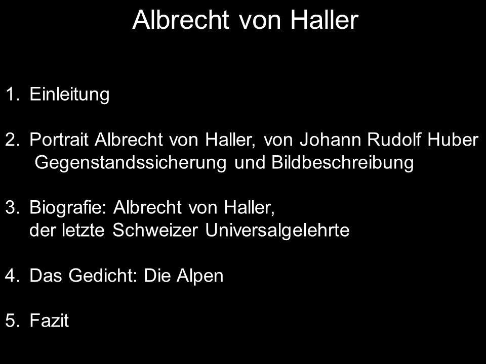 Albrecht von Haller Einleitung