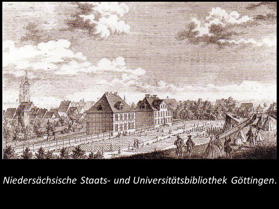 Niedersächsische Staats- und Universitätsbibliothek Göttingen.