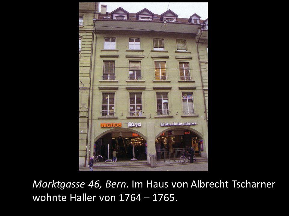Ab 1764 lebt er wieder in Bern und ist in vielen Kommissionen tätig