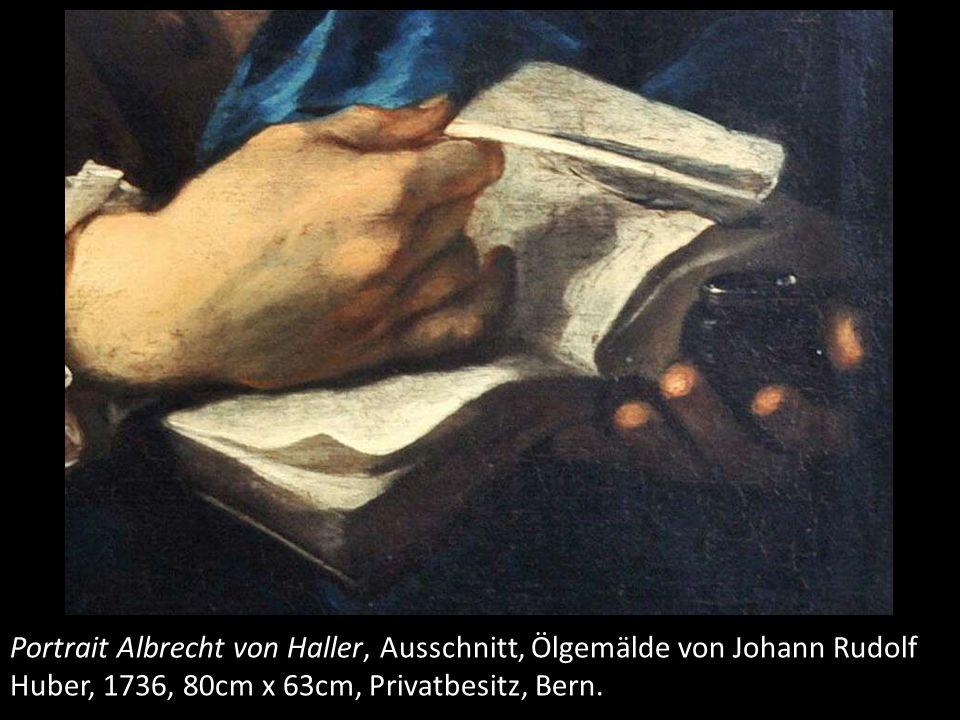 In seiner linken Hand hält er ein Tintenfass, die rechte ruht unverkrampft in einem Buch mit einer kartografischen Darstellung, auf die er den/die BetrachterIn aufmerksam machen möchte.