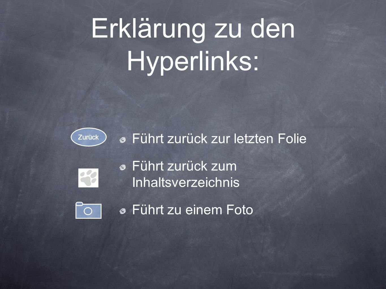 Erklärung zu den Hyperlinks:
