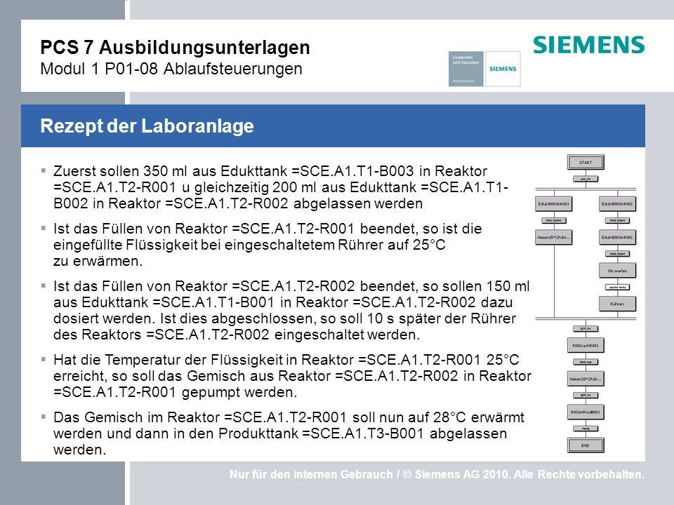 PCS 7 Ausbildungsunterlagen Modul 1 P01-08 Ablaufsteuerungen