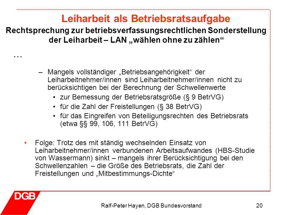 Ralf-Peter Hayen, DGB Bundesvorstand