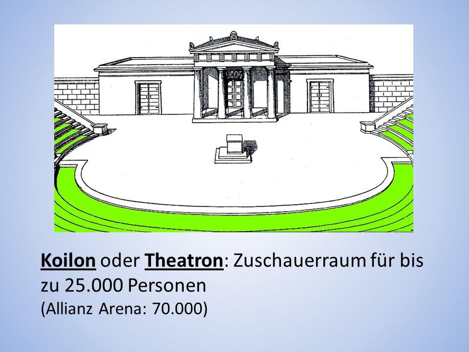 Koilon oder Theatron: Zuschauerraum für bis zu 25.000 Personen