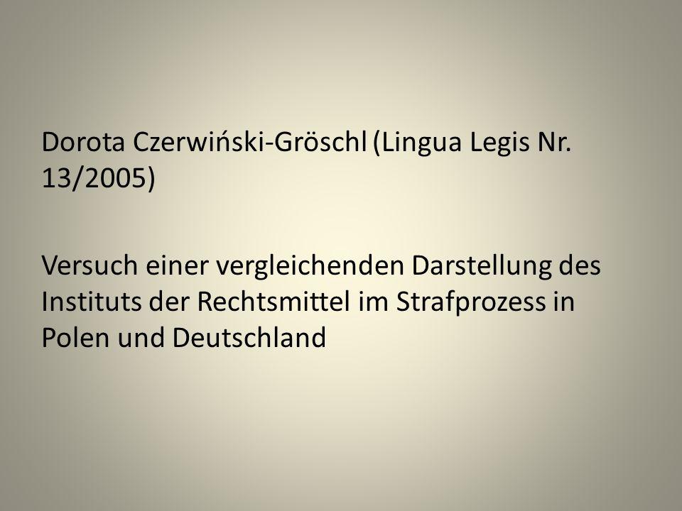 Dorota Czerwiński-Gröschl (Lingua Legis Nr