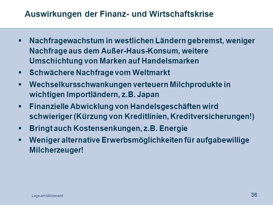 Auswirkungen der Finanz- und Wirtschaftskrise