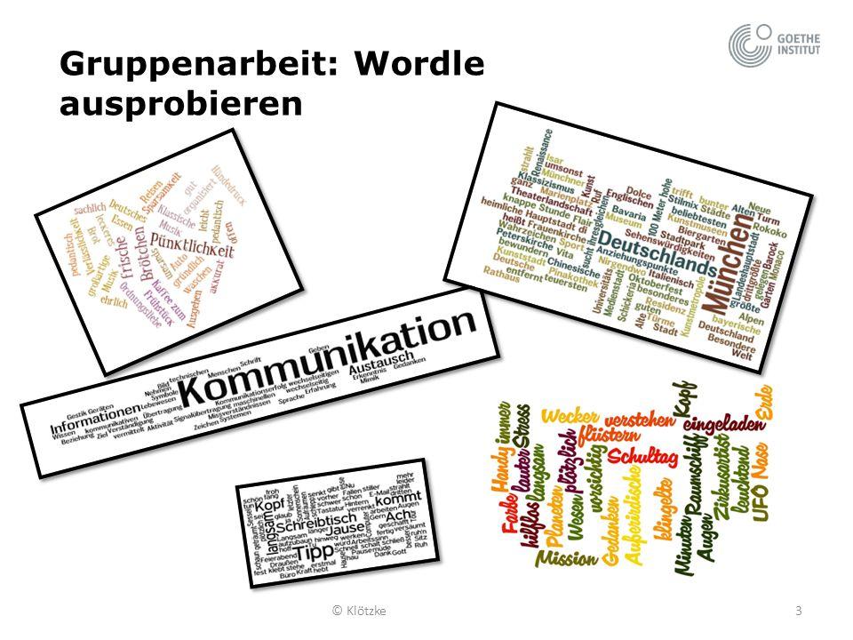 Gruppenarbeit: Wordle ausprobieren