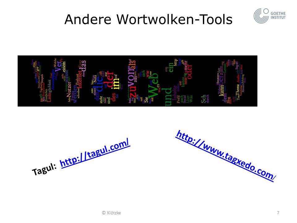 Andere Wortwolken-Tools