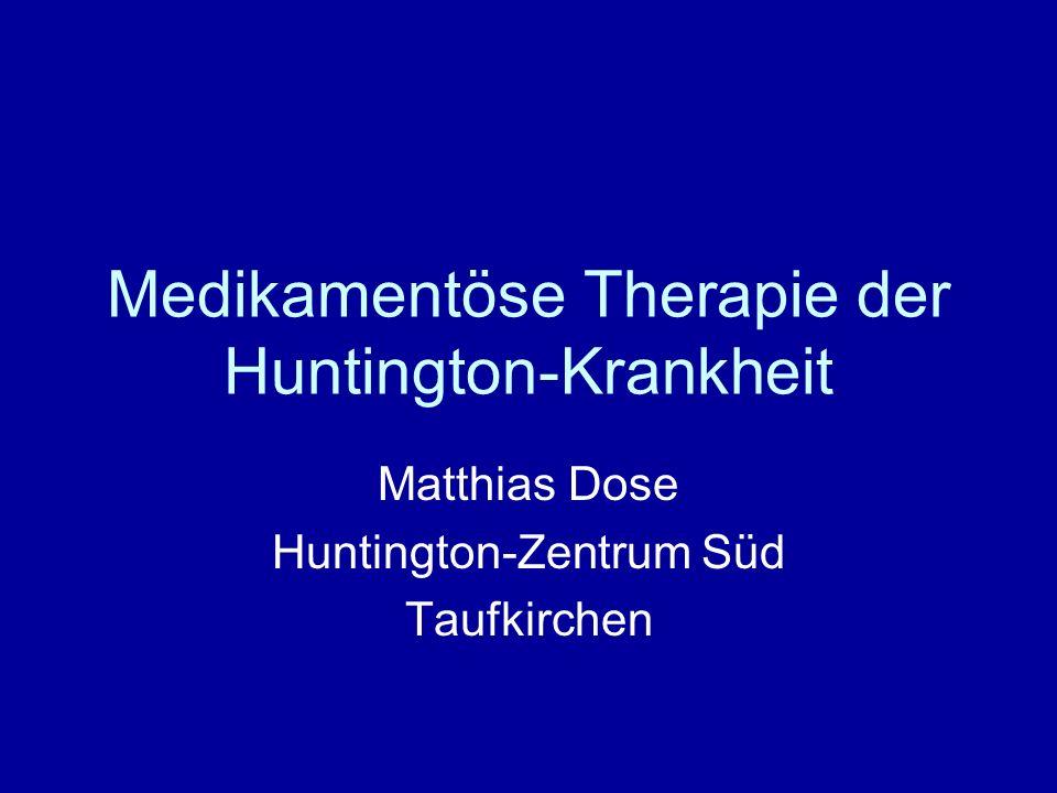 Medikamentöse Therapie der Huntington-Krankheit