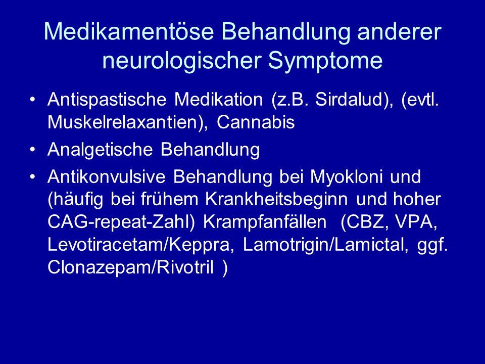 Medikamentöse Behandlung anderer neurologischer Symptome