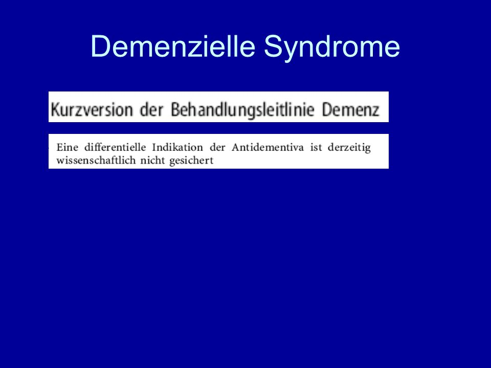 Demenzielle Syndrome