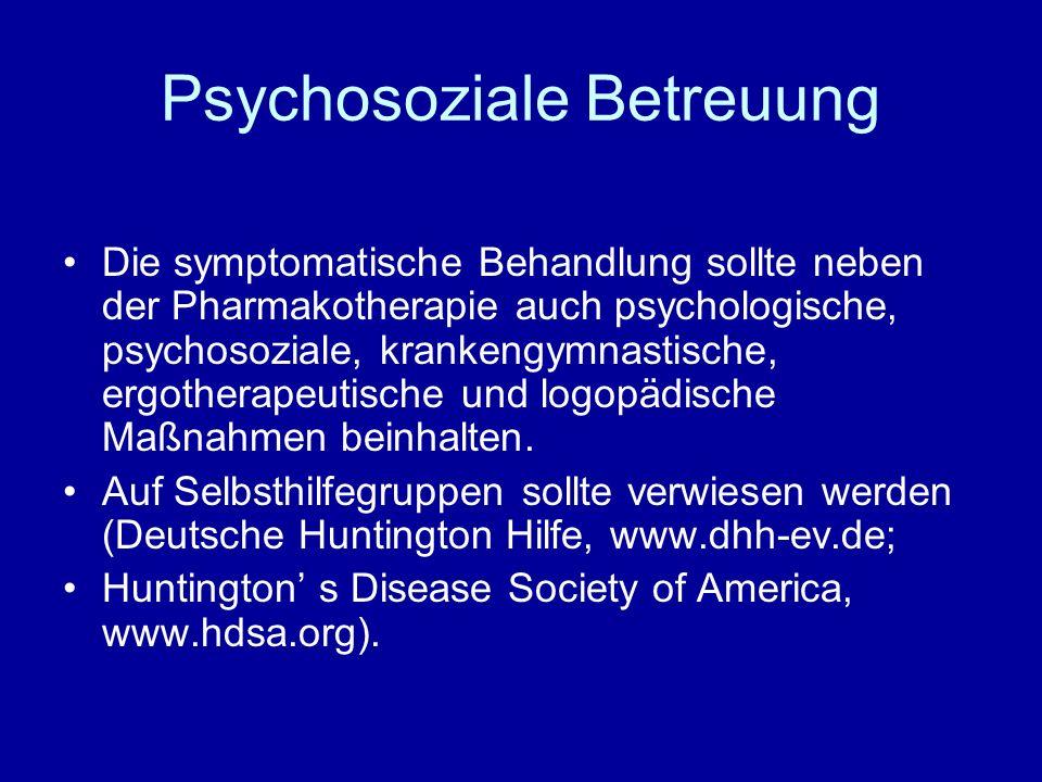 Psychosoziale Betreuung