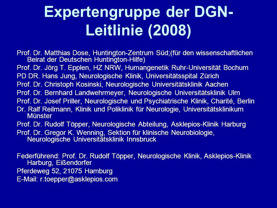 Expertengruppe der DGN-Leitlinie (2008)