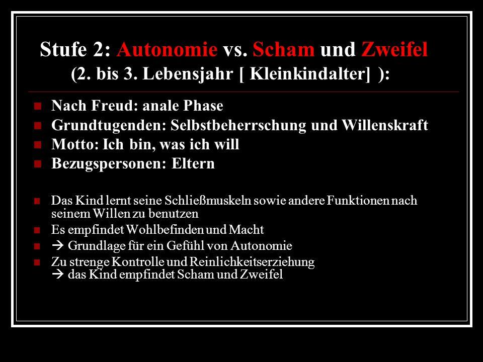 Stufe 2: Autonomie vs. Scham und Zweifel