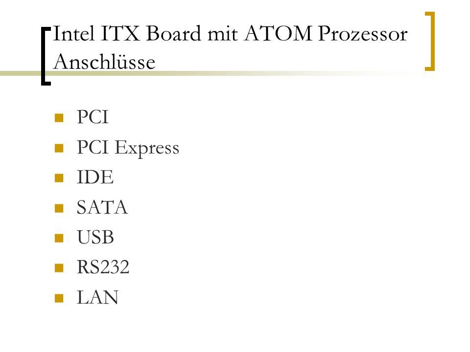 Intel ITX Board mit ATOM Prozessor Anschlüsse