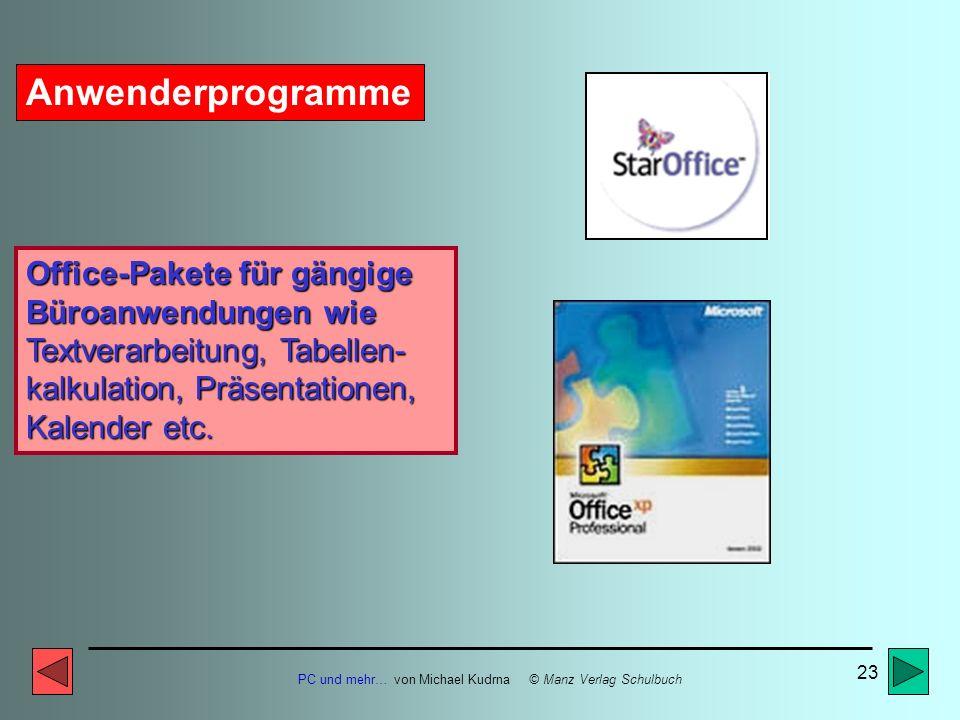 Anwenderprogramme Office-Pakete für gängige Büroanwendungen wie