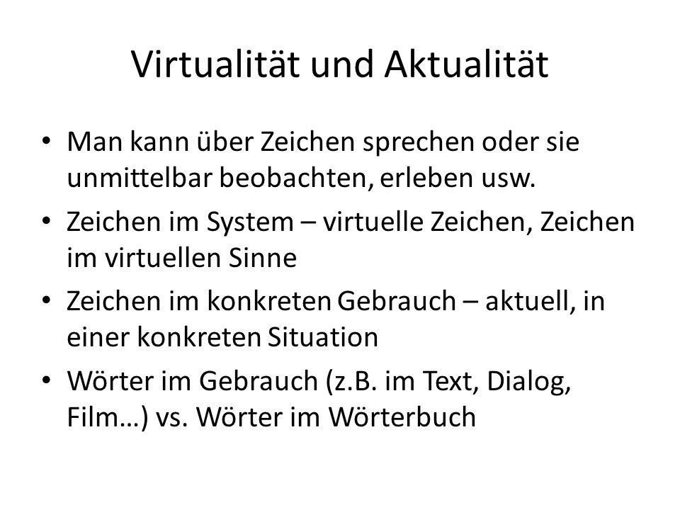 Virtualität und Aktualität