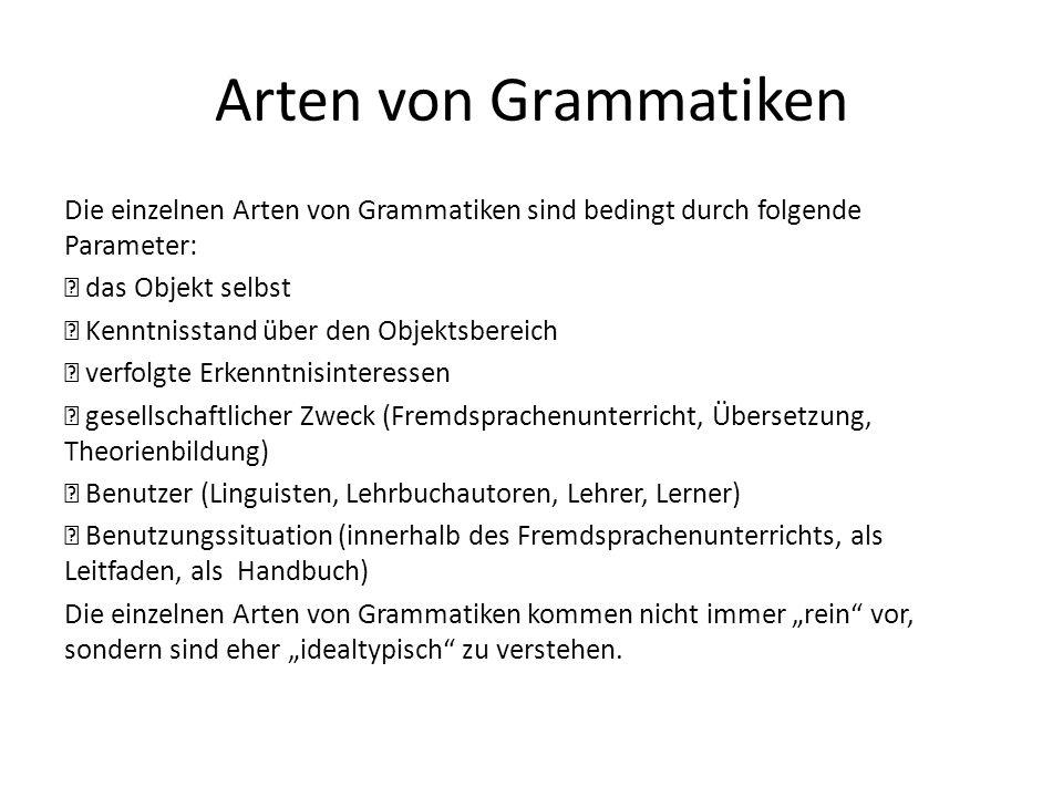 Arten von Grammatiken