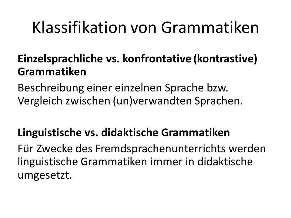 Klassifikation von Grammatiken