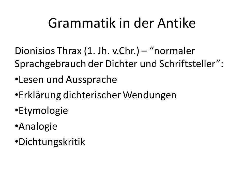 Grammatik in der Antike