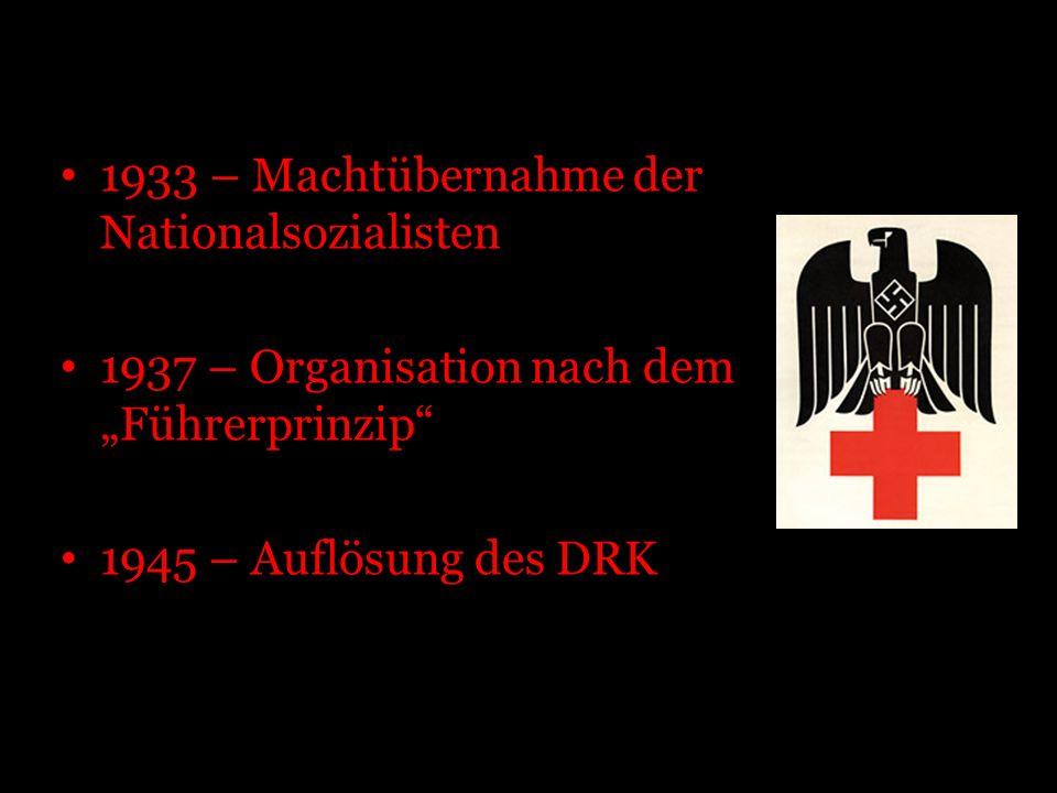 1933 – Machtübernahme der Nationalsozialisten