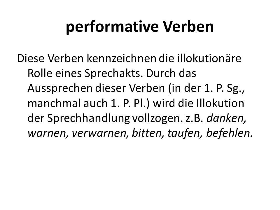 performative Verben