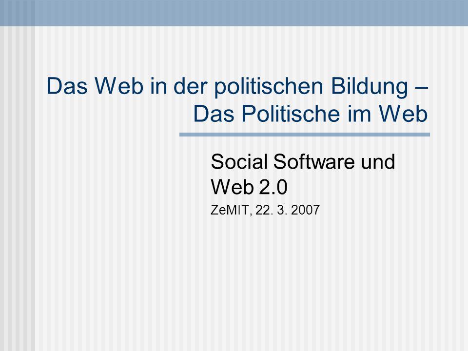 Das Web in der politischen Bildung – Das Politische im Web