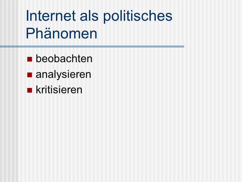 Internet als politisches Phänomen