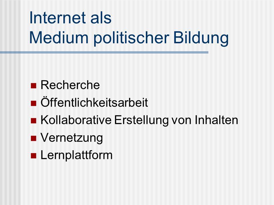 Internet als Medium politischer Bildung