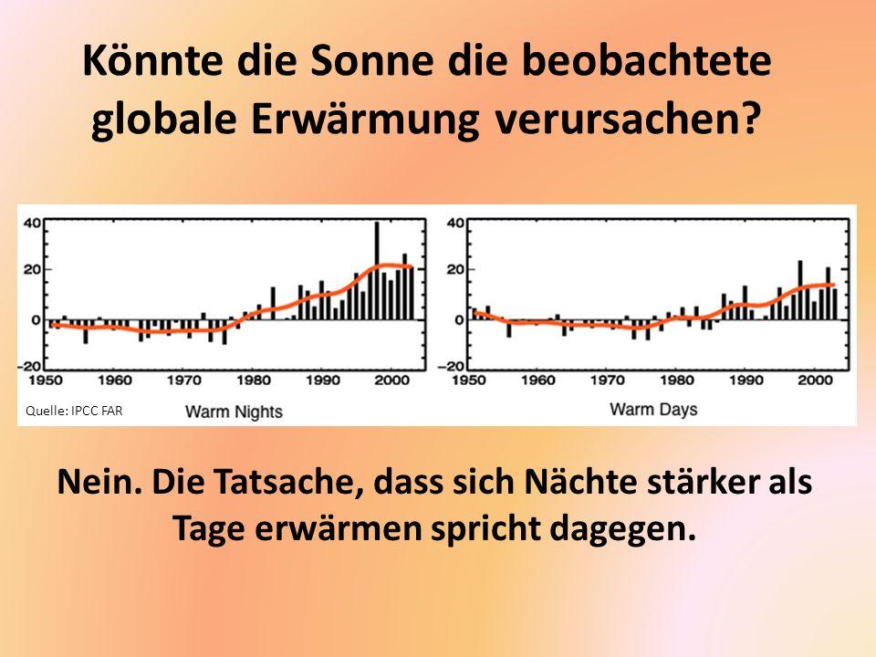 Könnte die Sonne die beobachtete globale Erwärmung verursachen