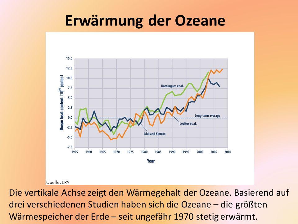 Erwärmung der Ozeane Quelle: EPA.