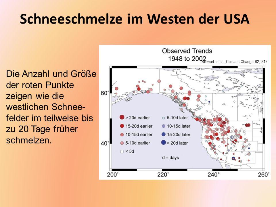 Schneeschmelze im Westen der USA
