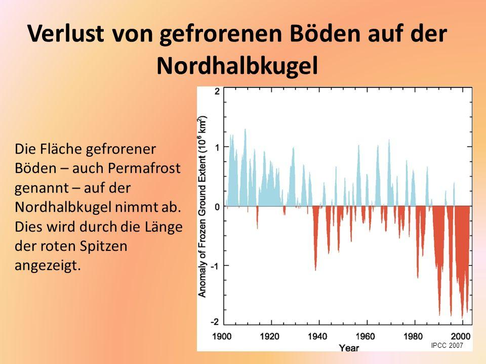 Verlust von gefrorenen Böden auf der Nordhalbkugel