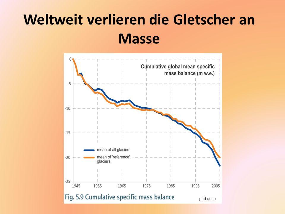 Weltweit verlieren die Gletscher an Masse