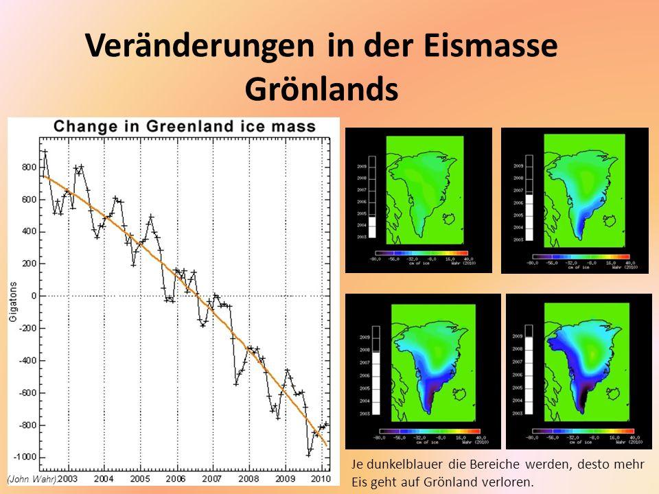 Veränderungen in der Eismasse Grönlands