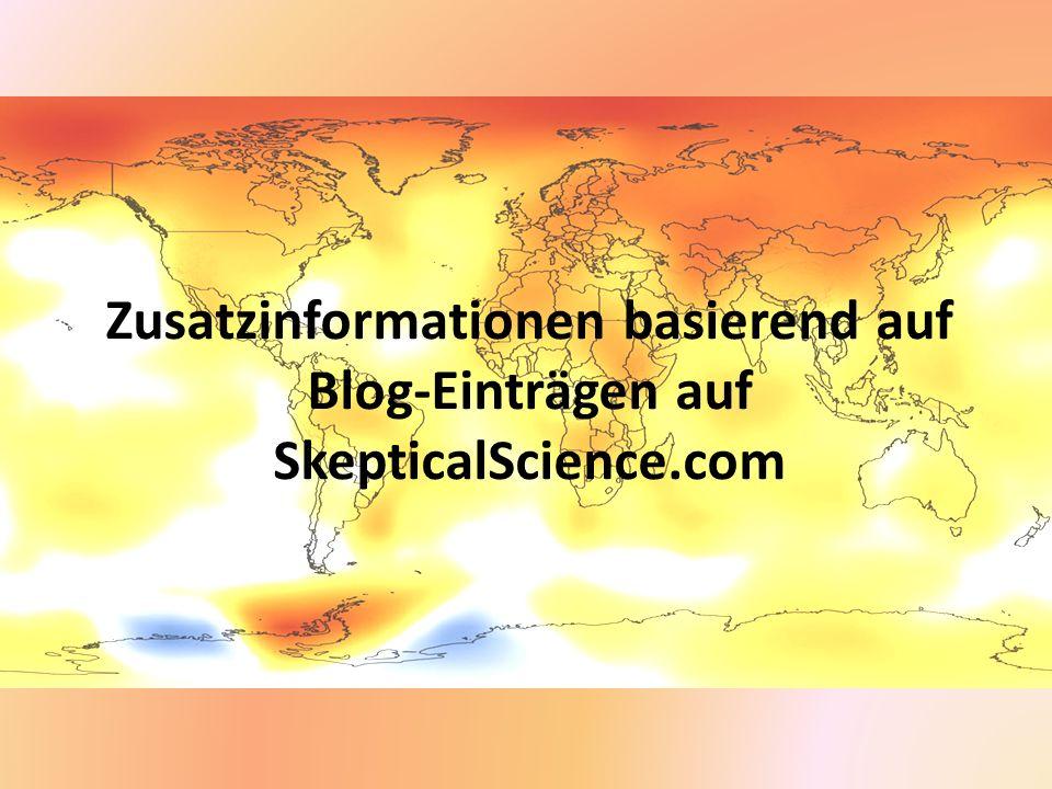 Zusatzinformationen basierend auf Blog-Einträgen auf SkepticalScience
