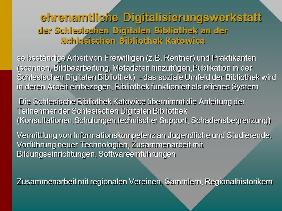 ehrenamtliche Digitalisierungswerkstatt