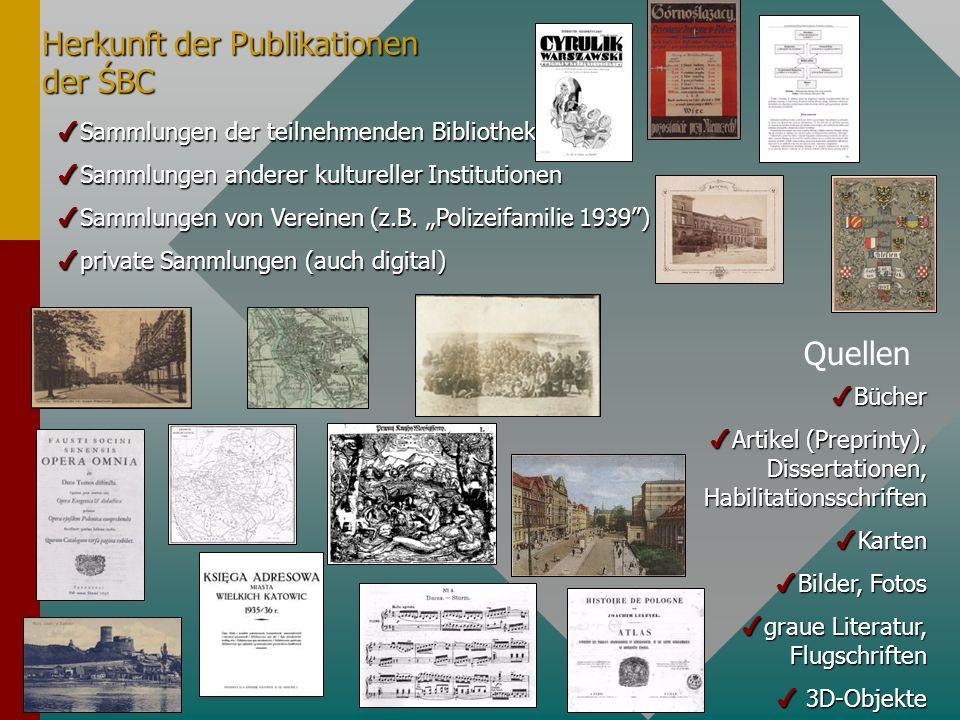 Herkunft der Publikationen der ŚBC