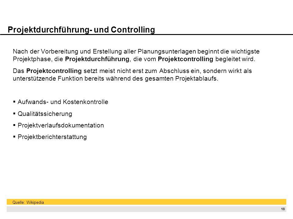 Projektdurchführung- und Controlling