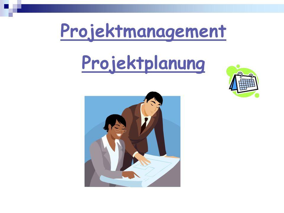 Projektmanagement Projektplanung