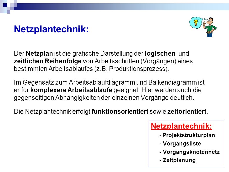 Netzplantechnik: Netzplantechnik: